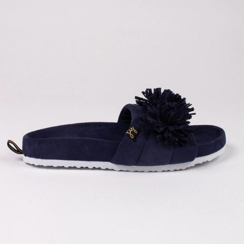 Albany Navy Slides - WOMEN SHOES - NIGEL MARK