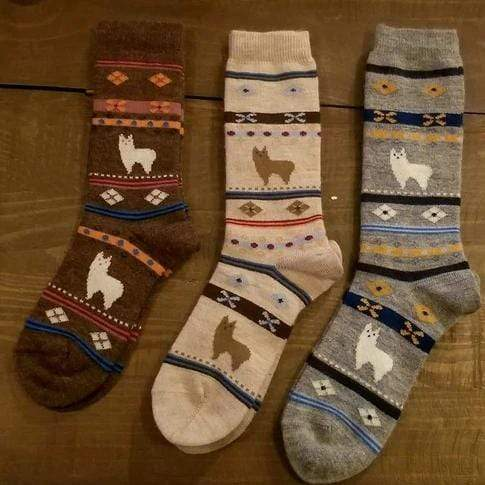 Alpaca Watching Socks - MEN ACCESSORIES - NIGEL MARK