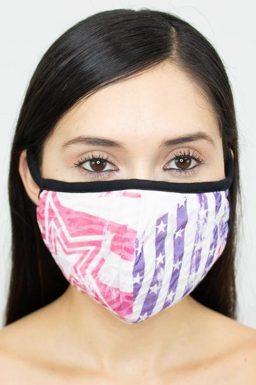 American Flag Face Mask-Purple - BEAUTY & WELLNESS - NIGEL MARK