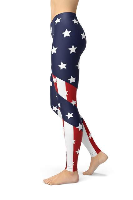 American Flag Leggings - BOTTOMS - NIGEL MARK
