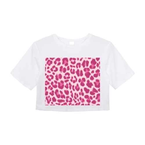 Animal Pink Print Crop Top - Women's Clothing - NIGEL MARK