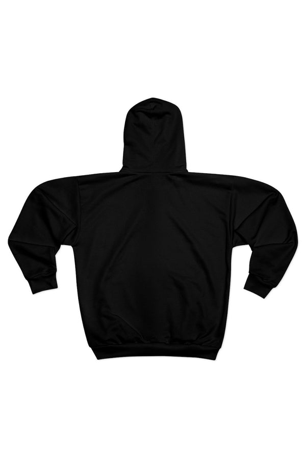 women's black panther logo zipper hoodie