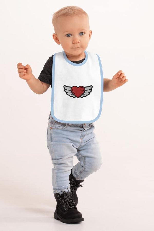 Baby Angel Heart Bib - NM BRANDED - NIGEL MARK