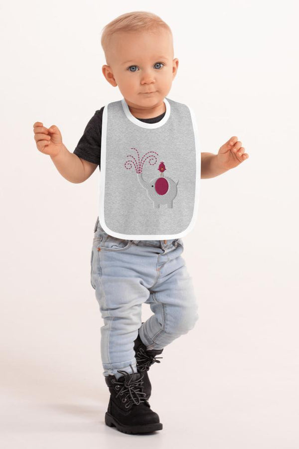 Baby Pink Elephant Bib - NM BRANDED - NIGEL MARK