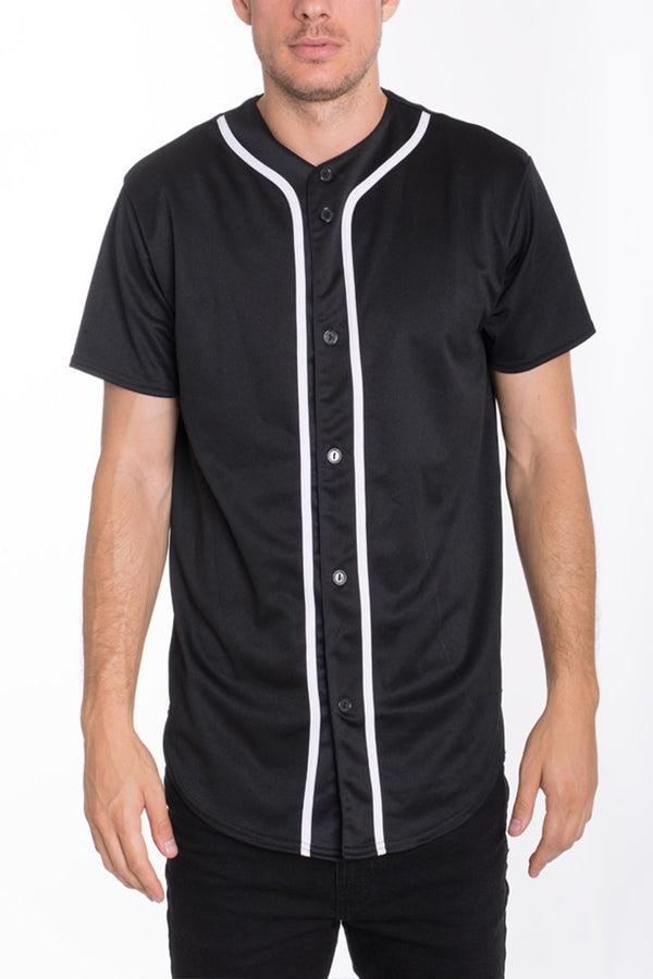 Baseball Jersey - Black/White - Men's Clothing - NIGEL MARK