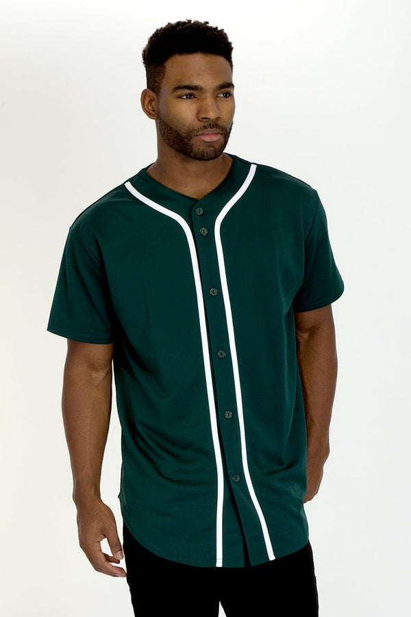 Baseball Jersey - Green - MEN TOPS - NIGEL MARK