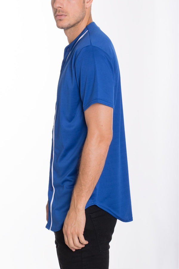 Baseball Jersey - Royal - MEN TOPS - NIGEL MARK