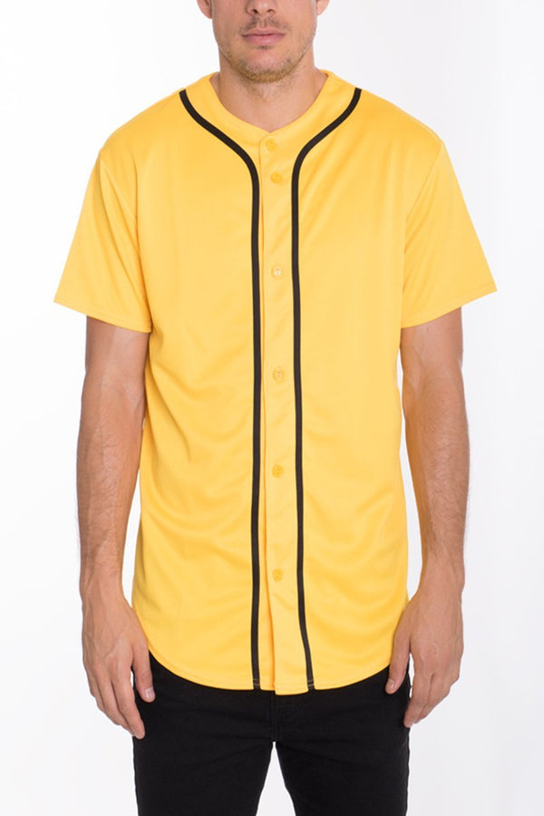 Baseball Jersey - Yellow - MEN TOPS - NIGEL MARK