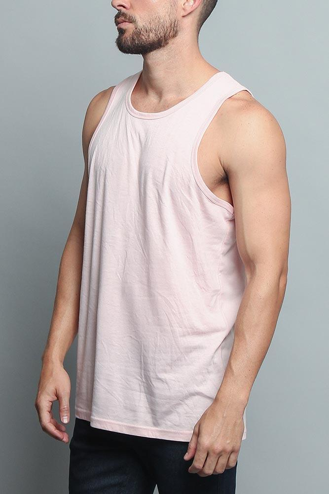 Basic Essential Straight Hem Long Length Tank Top - MEN TOPS - NIGEL MARK