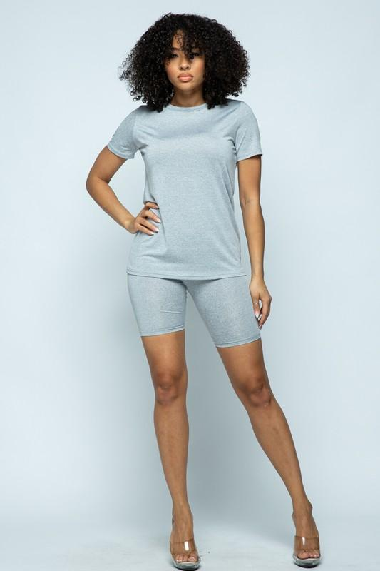 Basic Short Set - Women's Clothing - NIGEL MARK