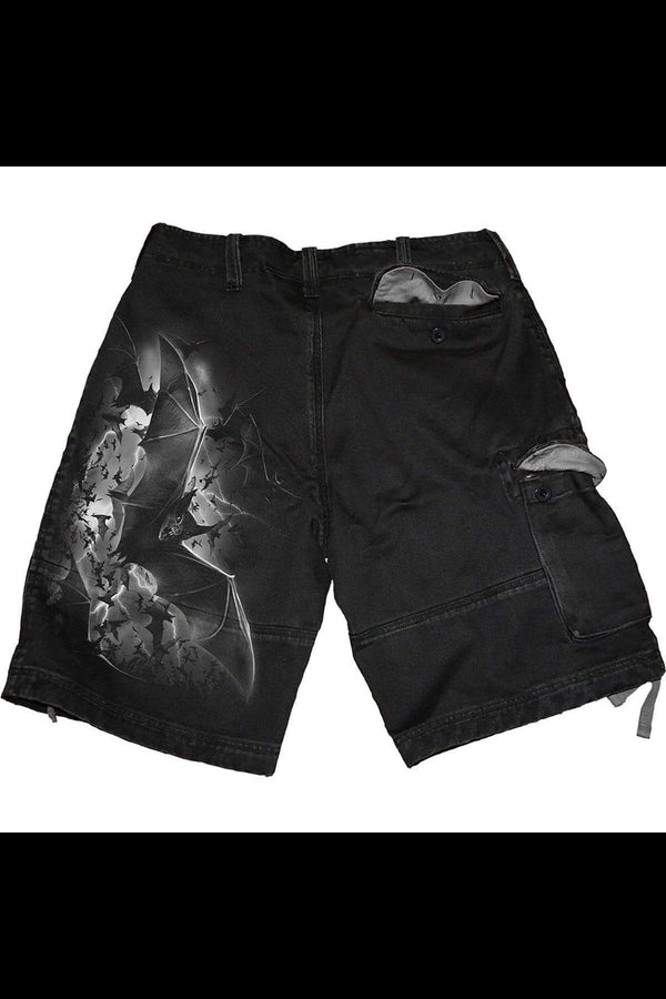 BAT CURSE - Vintage Cargo Shorts Black - MEN SHORTS - NIGEL MARK