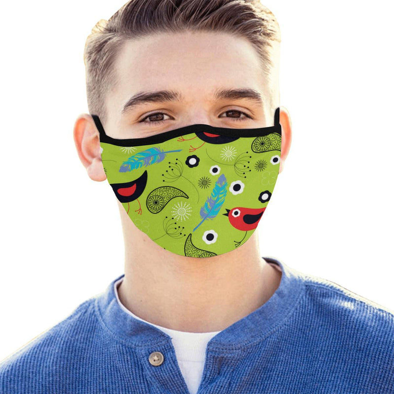 Birds & Paisley Hand-Made Fabric Face Mask - BEAUTY & WELLNESS - NIGEL MARK
