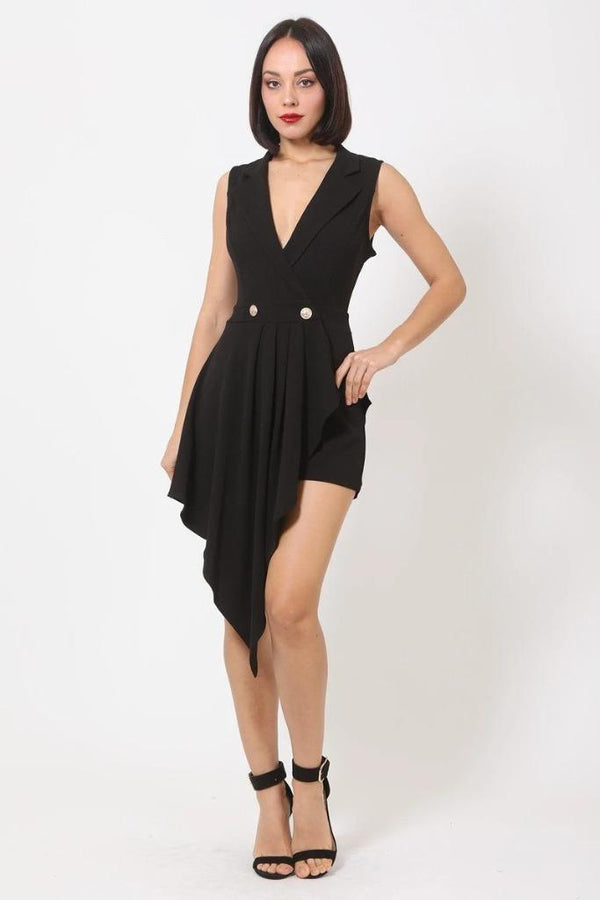 Black Fashion Romper - NIGEL MARK