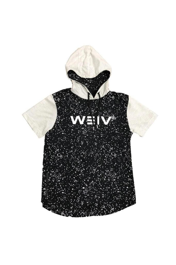 Black Splatter Logo Hoodie Tee - Sweaters & Hoodies - NIGEL MARK