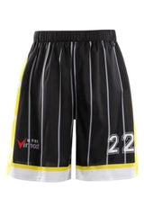 Black Stripes Design Basketball Shirts and Shorts - MEN TOPS - NIGEL MARK