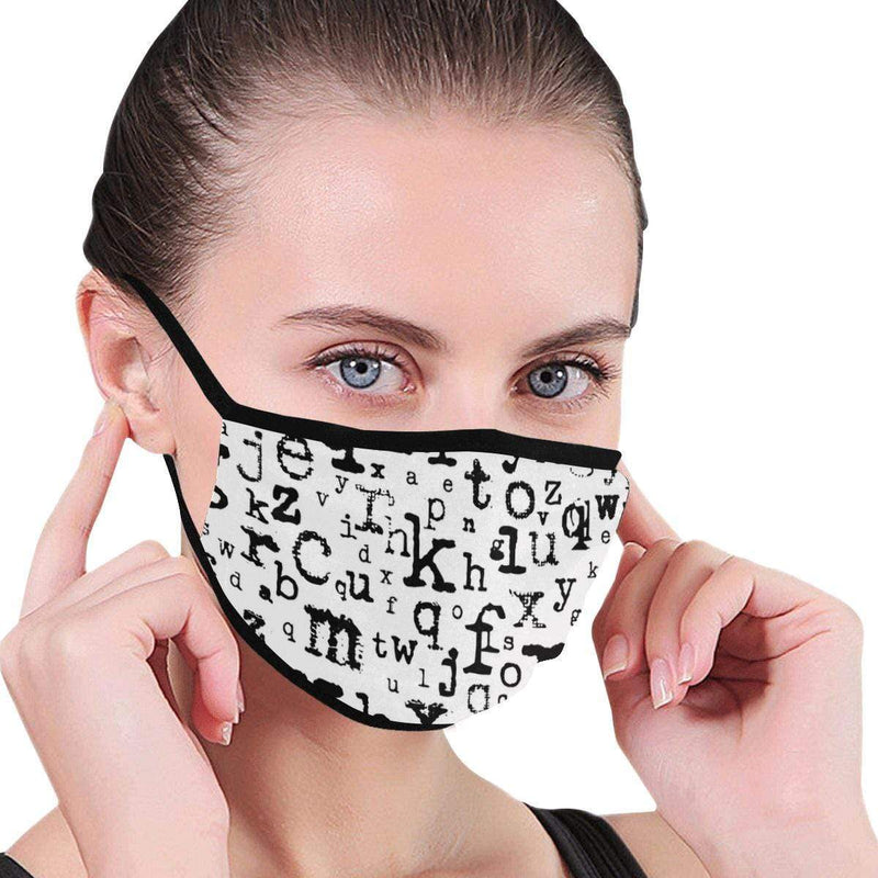 Black & White Letters Hand-Made Fabric Face Mask - BEAUTY & WELLNESS - NIGEL MARK