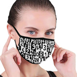 Black & White Numbers Hand-Made Fabric Face Mask - BEAUTY & WELLNESS - NIGEL MARK