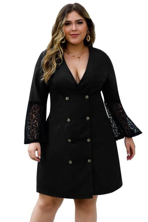 Blazer Style Dress - PLUS DRESSES - NIGEL MARK