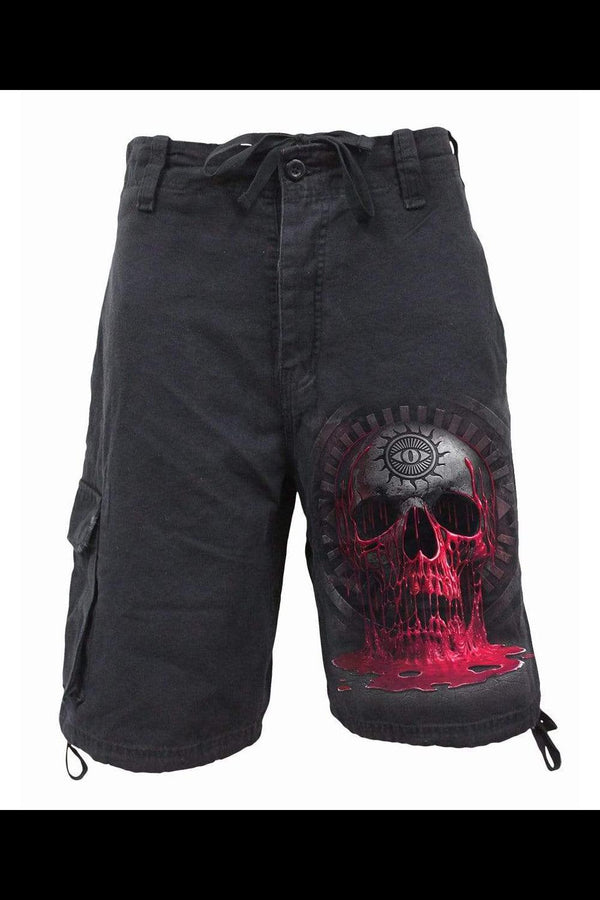 BLEEDING SOULS - Vintage Cargo Shorts Black - MEN SHORTS - NIGEL MARK