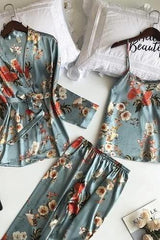 Blossom 3 PCS Pajamas Sets - WOMEN MATCHING SETS - NIGEL MARK