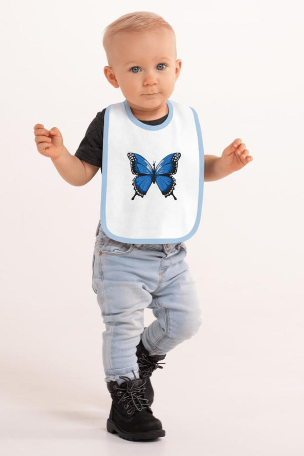 Blue Butterfly Baby Bib - NM BRANDED - NIGEL MARK