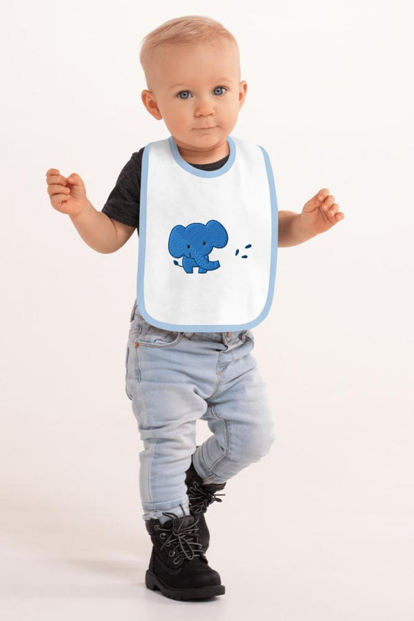 Blue Elephant Baby Bib - NM BRANDED - NIGEL MARK
