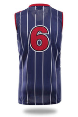 Blue Stripes Design Basketball Jersey and Shorts - MEN TOPS - NIGEL MARK