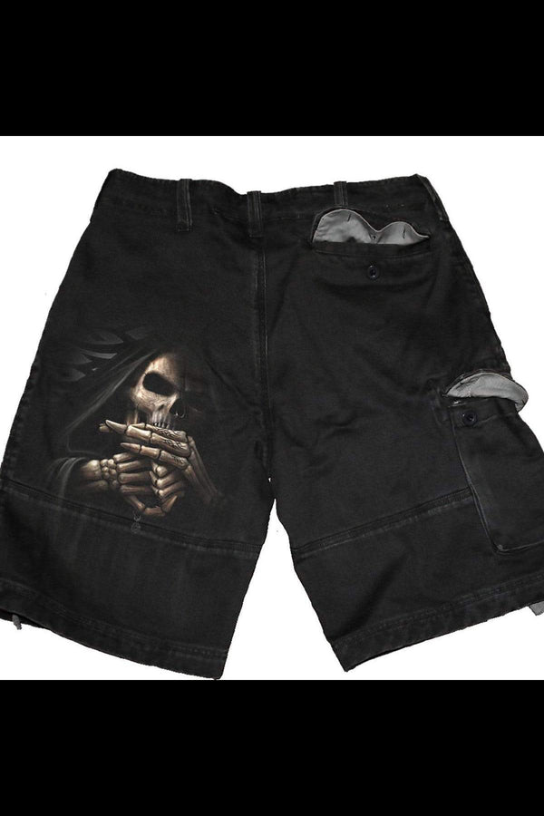 BONE FINGER - Vintage Cargo Shorts Black - MEN SHORTS - NIGEL MARK