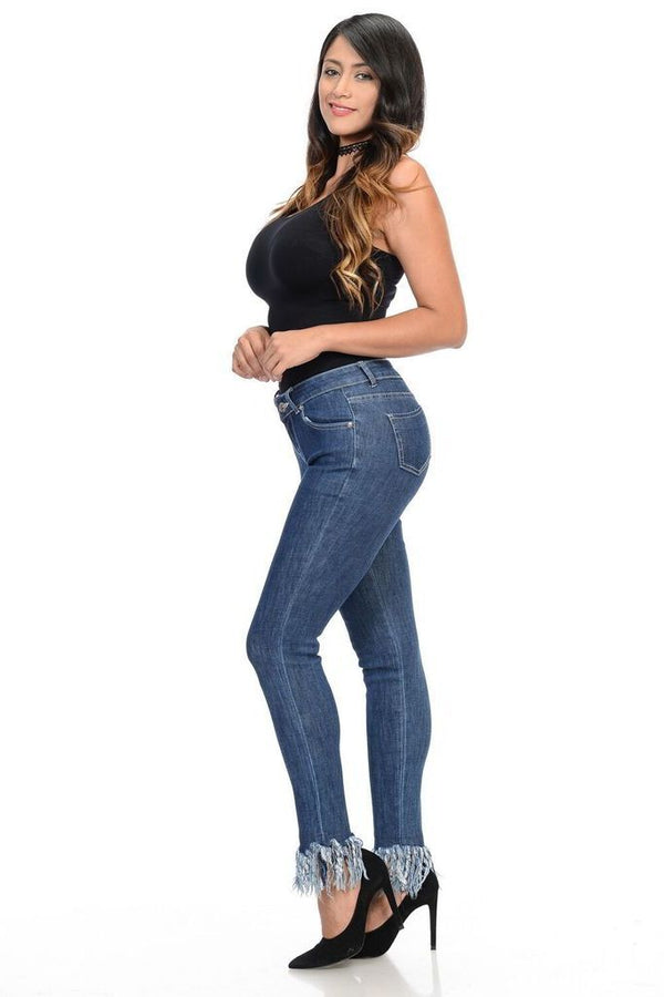 Bottom Fringe Jeans - WOMEN BOTTOMS - NIGEL MARK