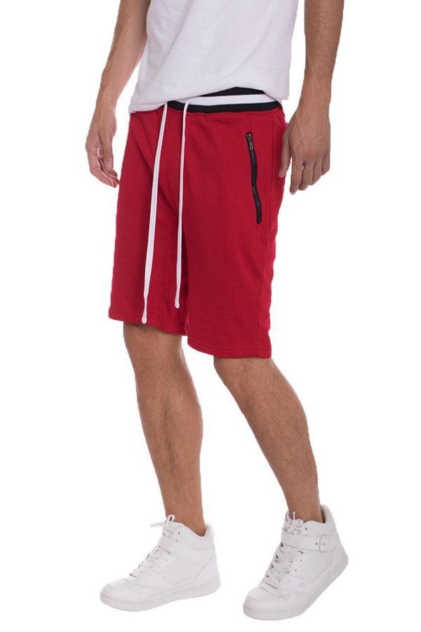 Brandon French Terry Shorts - Red - Shorts - NIGEL MARK