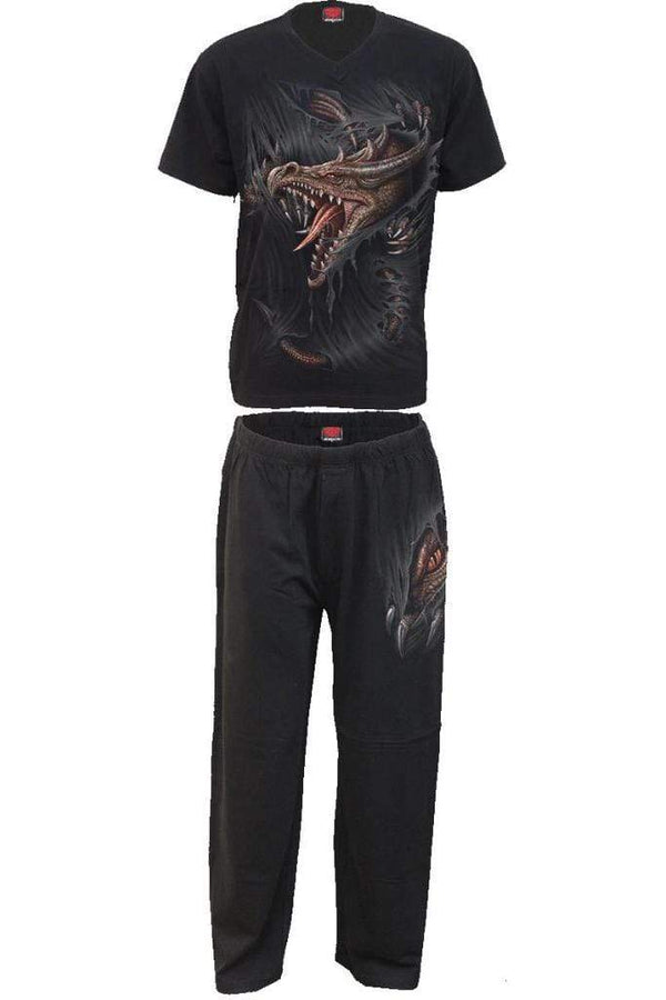 BREAKING OUT - 4pc Mens Gothic Pyjama Set - MEN UNDERWEAR - NIGEL MARK