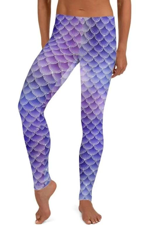 Brenda Purple Mermaid Leggings - BOTTOMS - NIGEL MARK