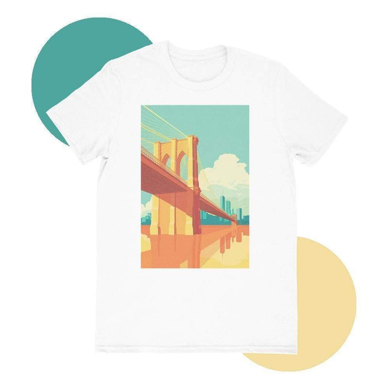Brooklyn Bridge T-shirt - MEN TOPS - NIGEL MARK