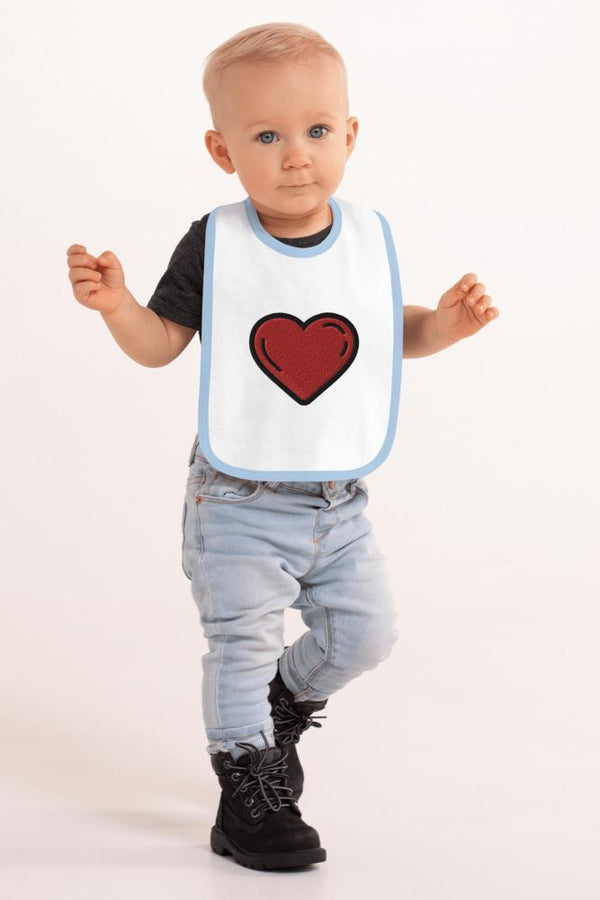 Bubbled Heart Baby Bib - NM BRANDED - NIGEL MARK