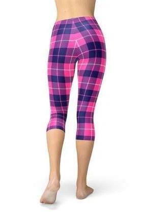 Buffalo Plaid Capri Leggings - BOTTOMS - NIGEL MARK