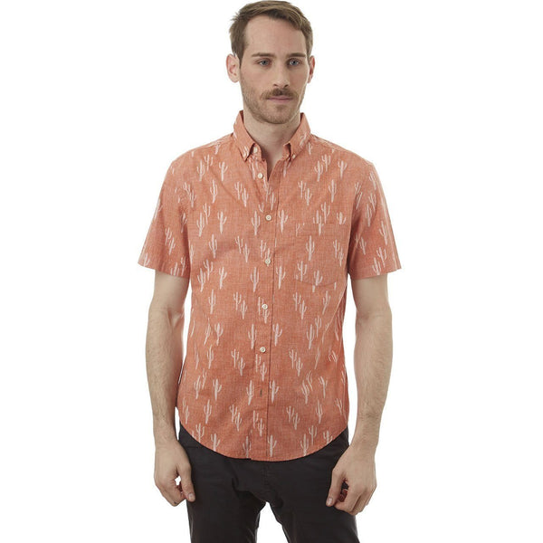Burnt Orange Cactus Shirt - MEN TOPS - NIGEL MARK