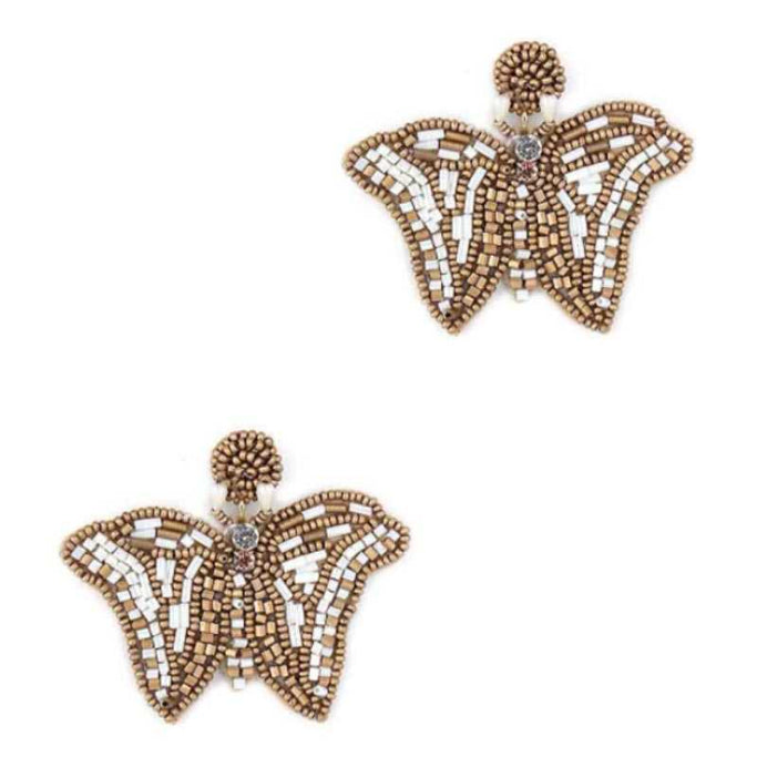 Butterfly Beaded Fashion Earrings - NIGEL MARK
