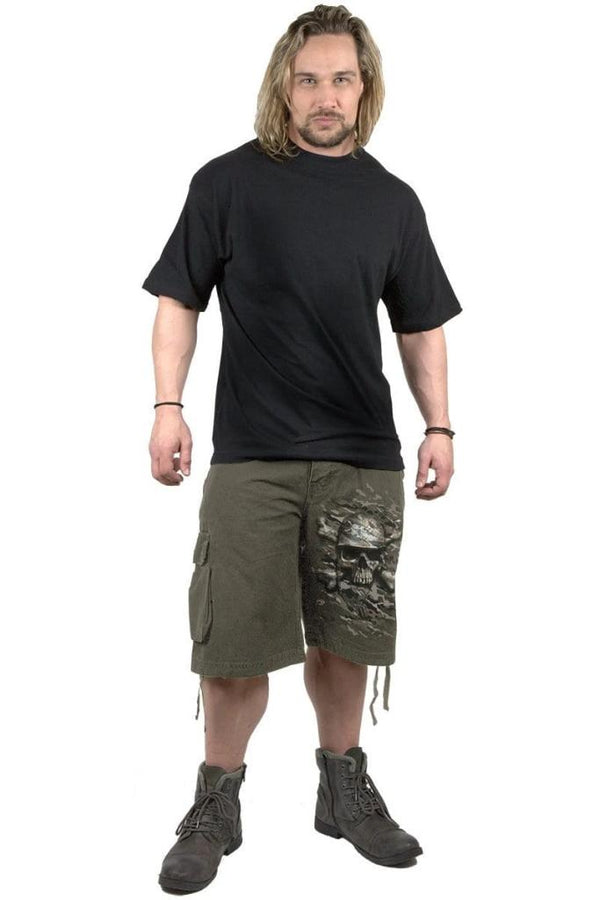 CAMO-SKULL - Vintage Cargo Shorts Olive - MEN SHORTS - NIGEL MARK