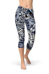 Capri Music Blue Leggings - BOTTOMS - NIGEL MARK