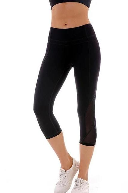 Capri Side Mesh Sport Leggings - BOTTOMS - NIGEL MARK