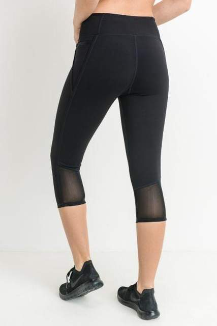 Capri Zippered Pockets Leggings - BOTTOMS - NIGEL MARK