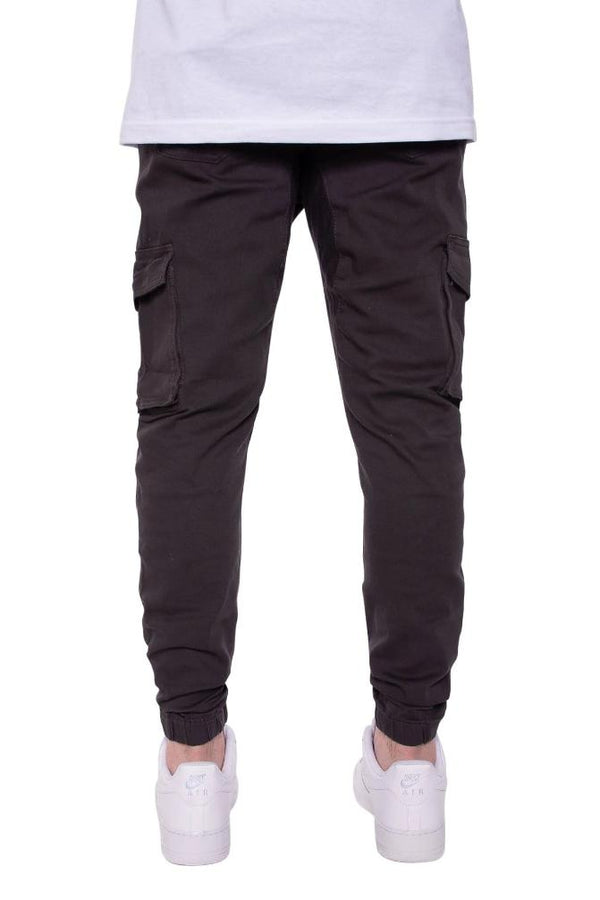 Cargo Twill Joggers in Black - MEN BOTTOMS - NIGEL MARK