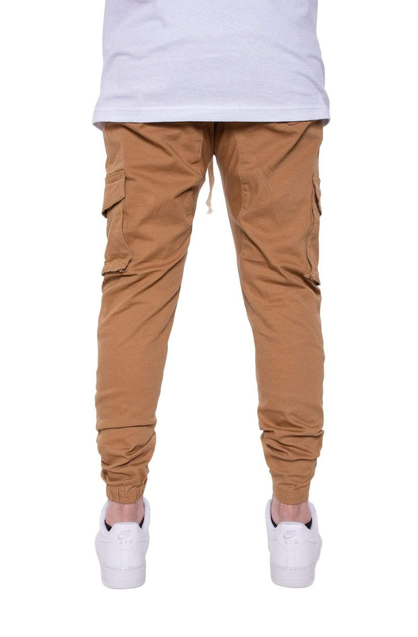 Cargo Twill Joggers in Wheat - MEN BOTTOMS - NIGEL MARK