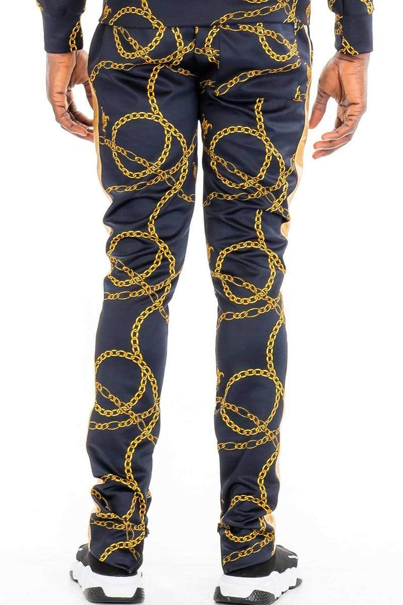 Chain Track Pants - Black - MEN BOTTOMS - NIGEL MARK