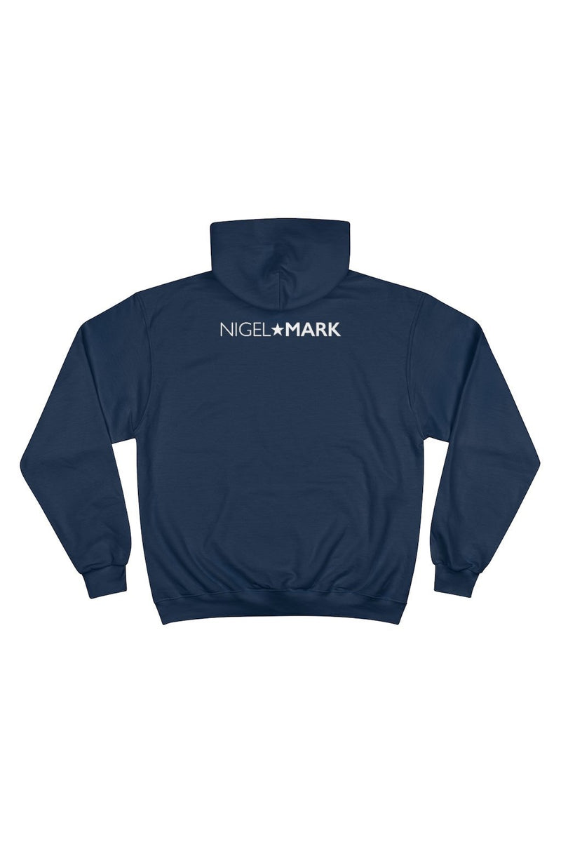 men's navy blue panther logo hoodie