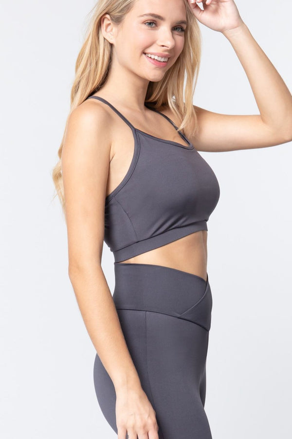Charcoal Workout Cami Bra Top - ACTIVEWEAR - NIGEL MARK