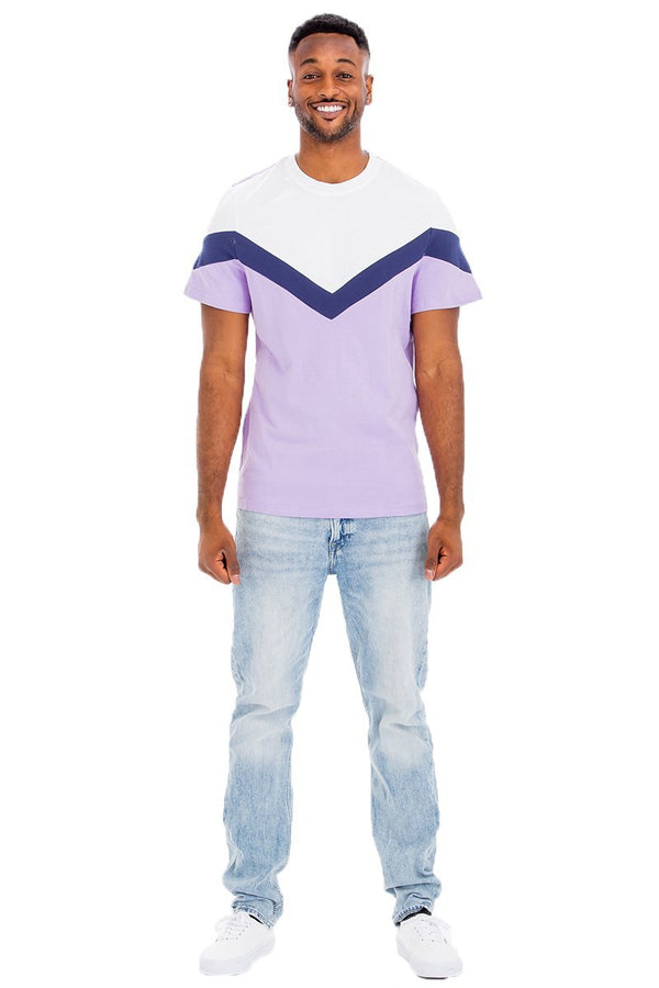 colorblock men's t shirt