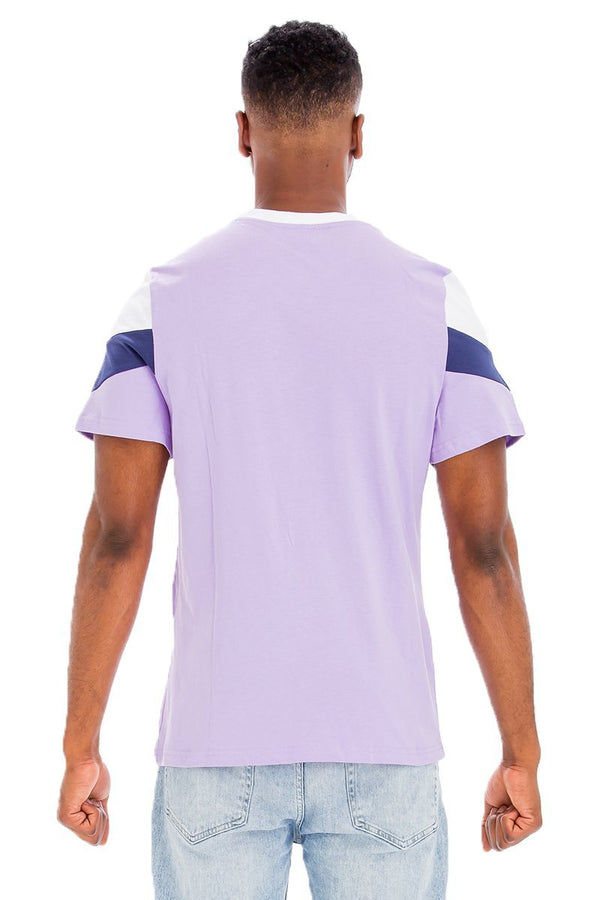 back of mens color block t shirt