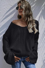 Chunky Knit Bell Sleeve Sweater - TOPS - NIGEL MARK