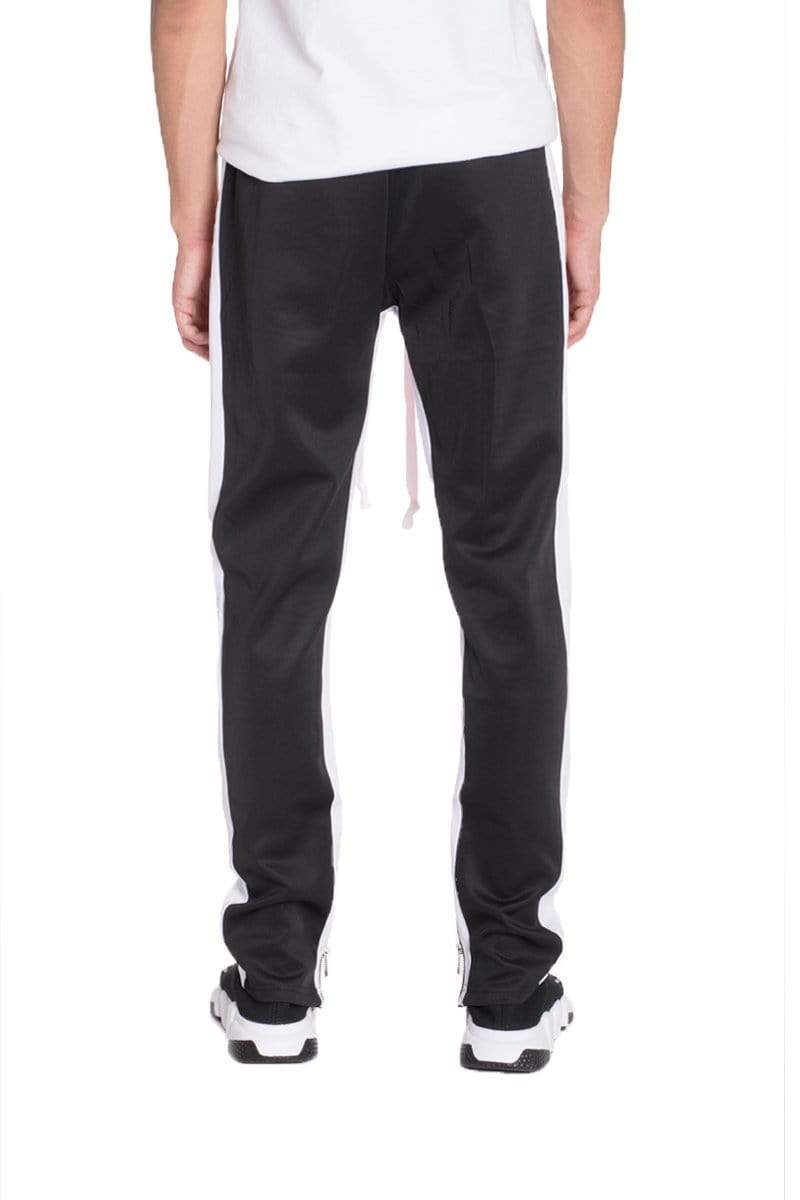 Color Block Track Pants - Black / Grey - MEN BOTTOMS - NIGEL MARK